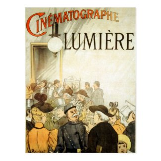 Lumière Brothers Cinema Poster Postcard