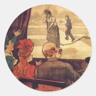 Lumière cinema poster round stickers