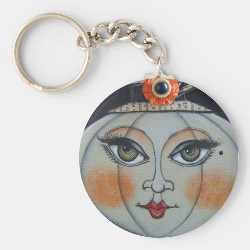 Lumina Pumpkin Halloween Basic Round Button Keychain