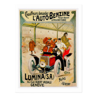 Lumina S.A. ~ Vintage Automobile Ad Postcard