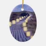 Luminarias en la trayectoria de la playa adorno de navidad