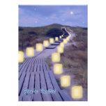 Luminarias en la trayectoria de la playa comunicados
