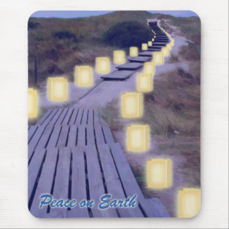 Luminarias en la trayectoria de la playa tapetes de ratón