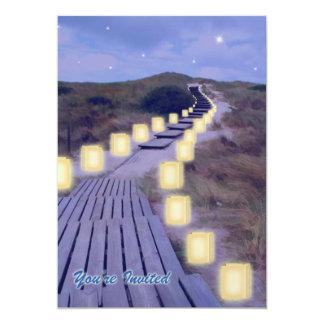 Luminarias on the Beach Path Card