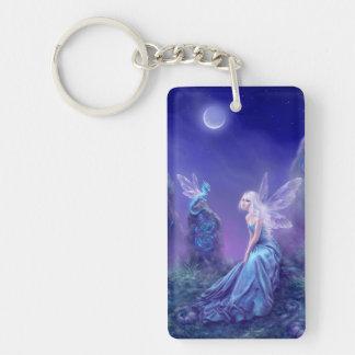 Luminescent Fairy & Dragon Art Acrylic Keychain