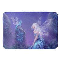 Luminescent Fairy & Dragon Art Bathroom Mat
