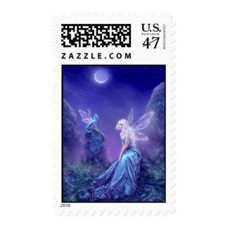 Luminescent Fairy & Dragon Art Custom Postage