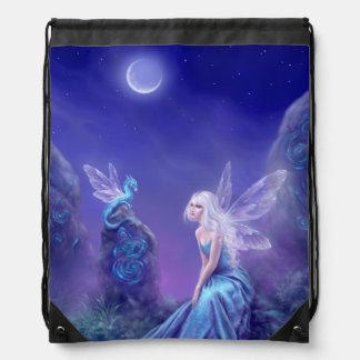 Luminescent Fairy & Dragon Art Drawstring Backpack
