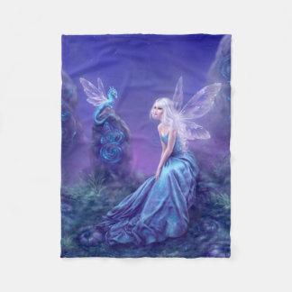 Luminescent Fairy & Dragon Art Fleece Blanket