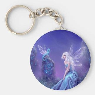 Luminescent Fairy & Dragon Art Keychain
