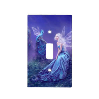 Luminescent Fairy & Dragon Art Light Switch Cover