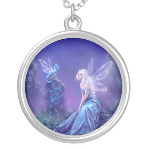 Luminescent Fairy & Dragon Art Necklace