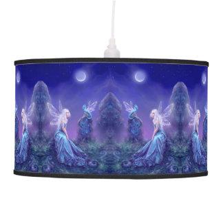 Luminescent Fairy & Dragon Art Pendant Lamp