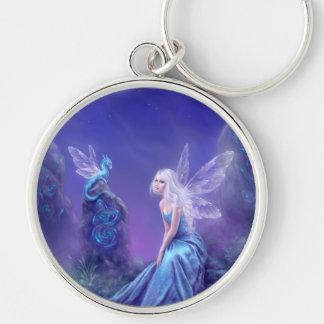 Luminescent Fairy & Dragon Art Premium Keychain