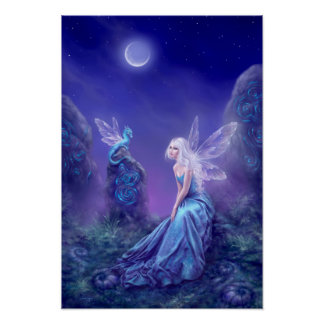 Luminescent Fairy & Dragon Poster Art Print