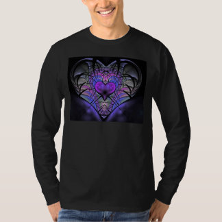 Luminescent Heart Long Sleeve Fractal T Shirt