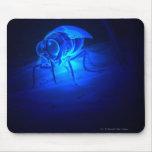 Luminescent illustration of a tsetse fly mouse pad