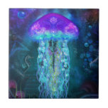 Luminescent Jellyfish Ceramic Tile
