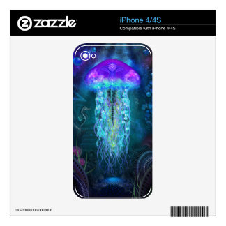 Luminescent Jellyfish Decals For The iPhone 4S