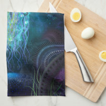 Luminescent Jellyfish Hand Towel