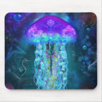 Luminescent Jellyfish Mouse Pad