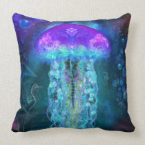 Luminescent Jellyfish Pillow