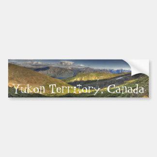 Luminescent Landscape; Yukon Territory Souvenir Car Bumper Sticker