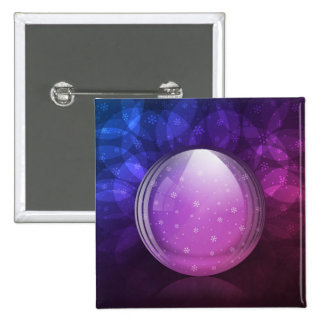 Luminescent snow globe buttons