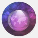 Luminescent snow globe classic round sticker