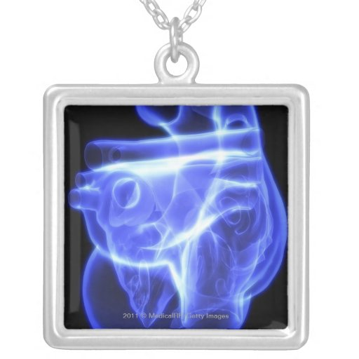 Luminescent view of the human heart jewelry