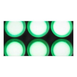Luminiscencia verde tarjeta personal con foto