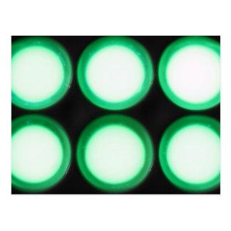 Luminiscencia verde postal