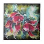 Luminosidad de los pescados del oro azulejo