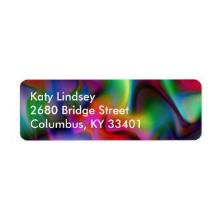 Luminous 4 Abstract Fractal Geek Art Label