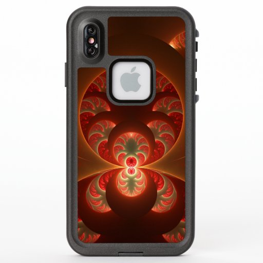 Luminous Abstract Modern Orange Red Fractal