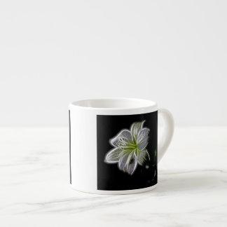 Luminous Bloom Design 6 Oz Ceramic Espresso Cup
