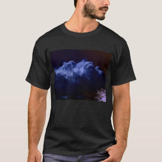 Luminous Blue Steamy Cumulus and Negated Foliage b T-Shirt
