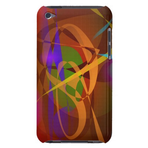 Luminous Brown Digital Abstract Art iPod Touch Covers