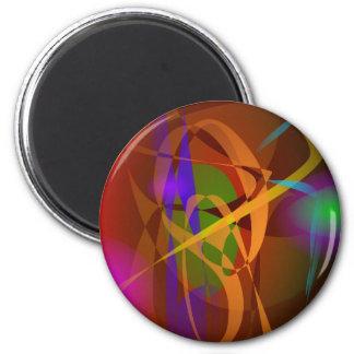 Luminous Brown Digital Abstract Art Fridge Magnet