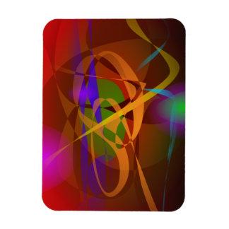 Luminous Brown Digital Abstract Art Flexible Magnet