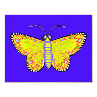 Luminous Butterfly 4.25x5.5 Paper Invitation Card