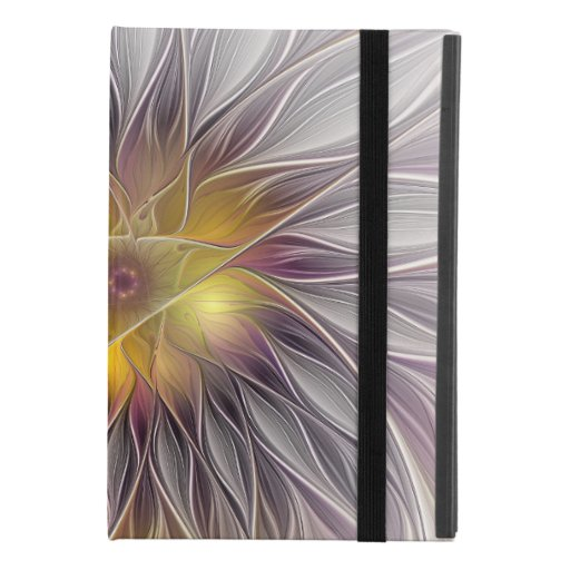Luminous Colorful Flower, Abstract Modern Fractal iPad Mini 4 Case