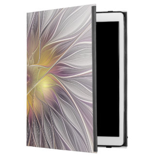 "Luminous Colorful Flower, Abstract Modern Fractal iPad Pro 12.9"" Case"