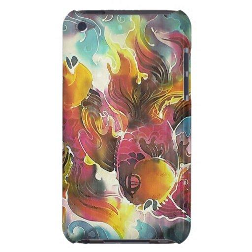 Luminous Colorful Goldfish Silk Art iPod Touch Case