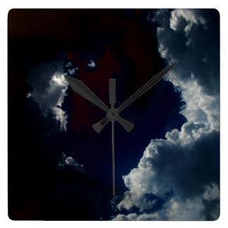 Luminous Cumulus by KLM Square Wall Clock