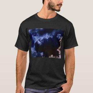 Luminous Cumulus congestus Behind Storm Clouds and T-Shirt