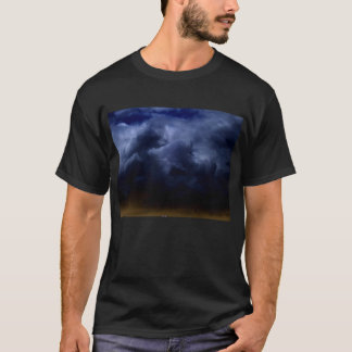 Luminous Dark Blue Cumulus Storm Clouds by KLM T-Shirt