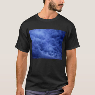 Luminous Dark Blue Mammatus Clouds 2 by KLM T-Shirt