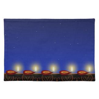 Luminous Diwali Diya - Placemat