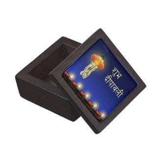 """Luminous Diwali Lamp - 2"""" Square Gift Box"""